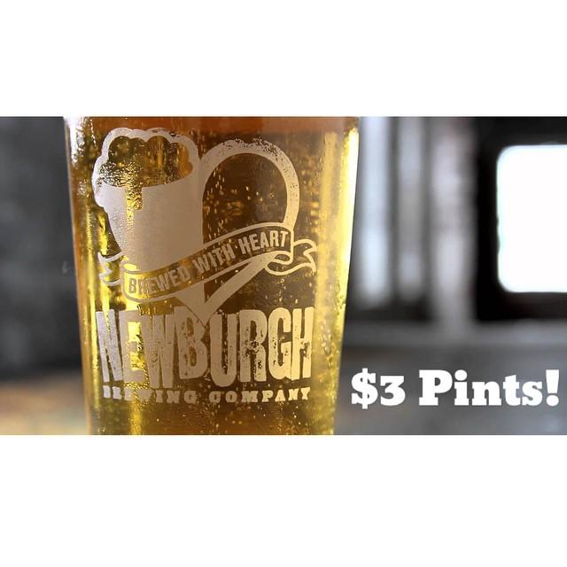 Tuesday Draft Deal!! NEWBURGH CREAM ALE! $3 Pints! #draft #deals #specials #getthatchd #beer #thatchislife