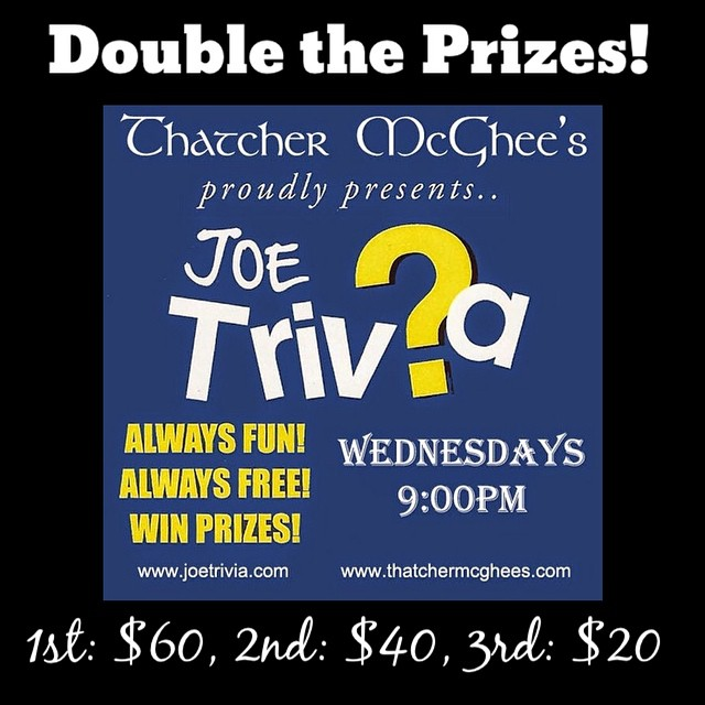 Trivia Night has upped the Prizes! Double the Prizes Double the Fun with @joetrivia #food #prizes #joetrivia #thatchislife #trivia