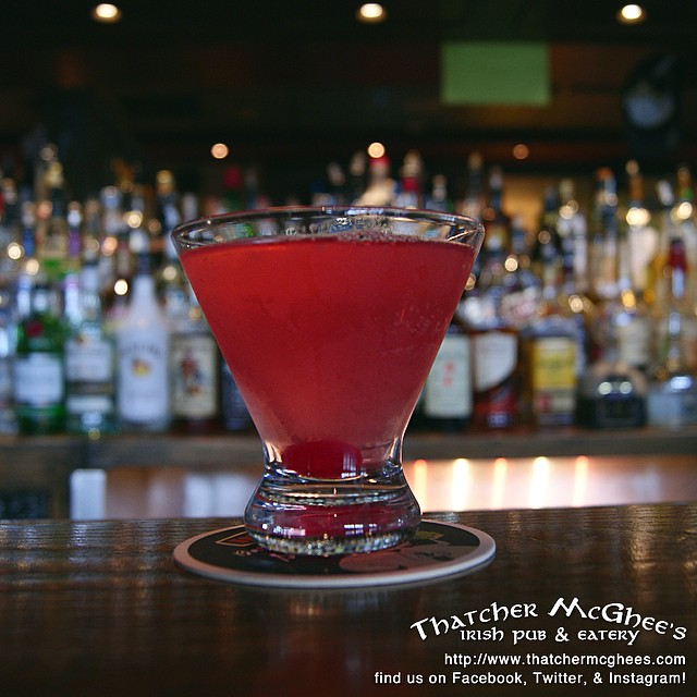 STARTING THIS THURSDAY: Our October drink specials will be pink to support breast cancer awareness month! Come in and ask for the Pink Ribbontini, and at the end of the month we'll donate a dollar to the search for the cure for every one we sell! Stay strong and save the tatas! #october #searchforthecure
